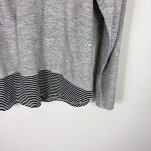 isela Tops - Isela Woman Gray Cowl Neck Long Sleeve Top 1X Cozy